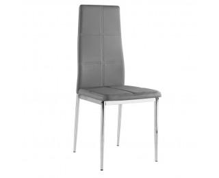 Jedálenská stolička Lera - sivá / chróm