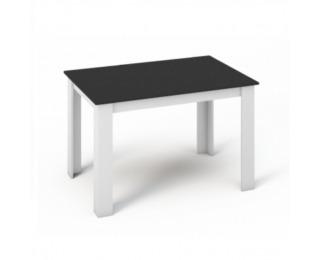 Jedálenský stôl Kraz 120x80 cm - biela / čierna