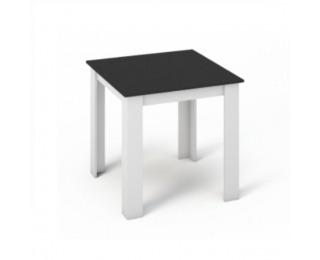 Jedálenský stôl Kraz 80x80 cm - biela / čierna