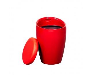 Taburetka s úložným priestorom Dalila HC-8114 New - červená
