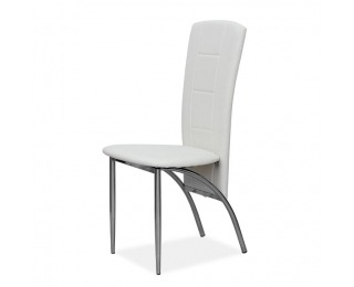 Jedálenská stolička Fina - biela / chróm
