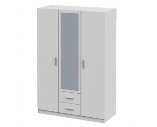 Šatníková skriňa so zrkadlom Invita Typ 2 3D - biela