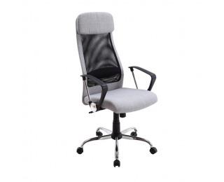 Kancelárske kreslo s podrúčkami Fabry - svetlosivá / čierna