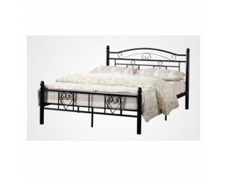 Kovová manželská posteľ s roštom Brita 160 - čierna