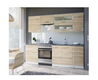 Kuchyňa Fabiana 240 - dub sonoma / biela