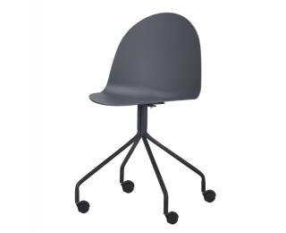 Kancelárska stolička Bruna - tmavosivá / čierna