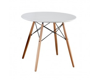 Okrúhly jedálenský stôl Gamin 90 - biela / buk