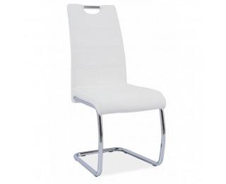 Jedálenská stolička Abira - biela / chróm