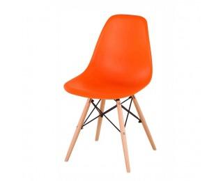 Jedálenská stolička Cinkla 2 New - oranžová / buk