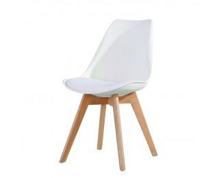 Jedálenská stolička Bali New - biela / buk