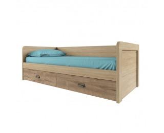 Jednolôžková posteľ s roštom Diaz 2S/90 - dub madura / wellington
