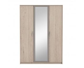 Šatníková skriňa so zrkadlom Graphic Typ 1 3D - dub arizona / sivá