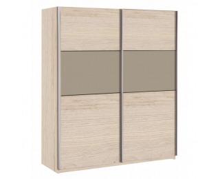 Šatníková skriňa s posuvnými dverami Graphic Typ 2 2D - dub arizona / sivá
