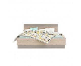 Manželská posteľ Graphic Typ 3 160 - dub arizona / sivá