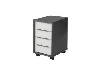 Kontajner na kolieskach Rioma Typ 14 - grafit / biela