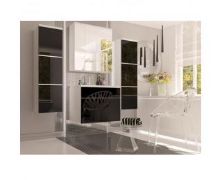 Kúpeľňa Mason - biela / čierny vysoký lesk