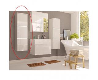 Kúpeľňová skrinka na stenu Mason WH 11 - biela / biely vysoký lesk