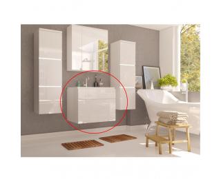 Kúpeľňová skrinka pod umývadlo Mason WH 13 - biela / biely vysoký lesk