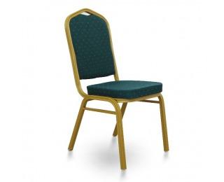 Konferenčná stolička Zina 2 New - zelená / zlatá