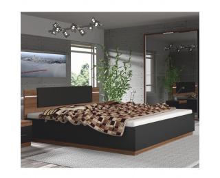 Manželská posteľ s osvetlením Degas 180 - orech / čierna