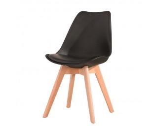 Jedálenská stolička Bali New - čierna / buk