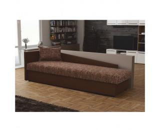 Jednolôžková posteľ (váľanda) Judit L - hnedá / vzor (Vegas 3)