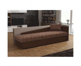 Jednolôžková posteľ (váľanda) Judit P - hnedá / vzor (Vegas 3)