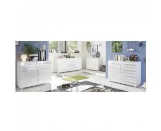 Obývacia izba Stragy - biely vysoký lesk