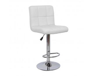 Barová stolička Kandy - biela / chróm