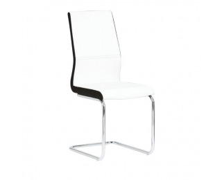 Jedálenská stolička Neana - biela / chróm
