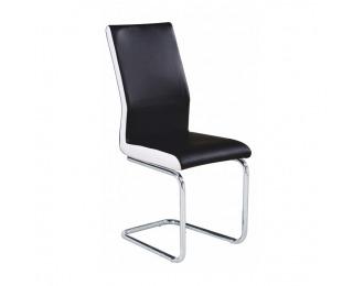 Jedálenská stolička Neana - čierna / chróm