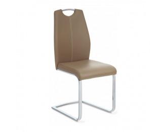 Jedálenská stolička Nesta - béžová / chróm