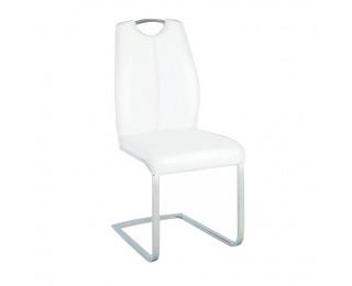 Jedálenská stolička Nesta - biela / chróm
