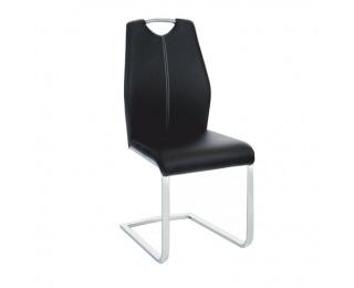 Jedálenská stolička Nesta - čierna / chróm