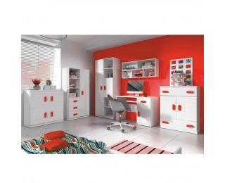 Detská izba Svend - biela / červená