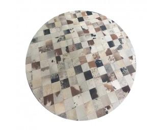 Kožený koberec Typ 10 200x200 cm - vzor patchwork