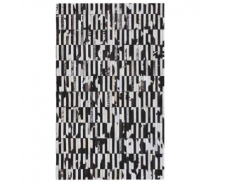 Kožený koberec Typ 6 141x200 cm - vzor patchwork