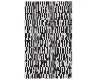 Kožený koberec Typ 6 201x300 cm - vzor patchwork