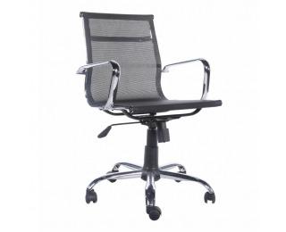 Kancelárska stolička s podrúčkami Melis - čierna