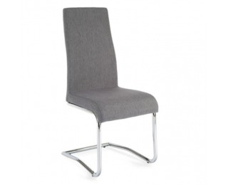 Jedálenská stolička Amina - svetlosivá / chróm
