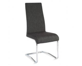 Jedálenská stolička Amina - tmavosivá / chróm