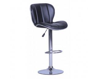 Barová stolička Duena - čierna / chróm