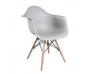 Jedálenská stolička Damen New - sivá / buk