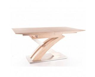 Rozkladací jedálenský stôl Bonet - dub sonoma / oceľ