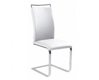 Jedálenská stolička Barna New - biela / chróm