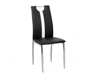 Jedálenská stolička Signa - čierna / biela / chróm