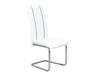 Jedálenská stolička Lesana - biela / chróm