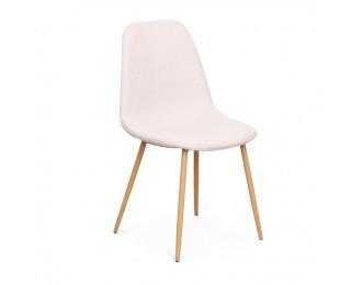 Jedálenská stolička Lega - krémová / buk