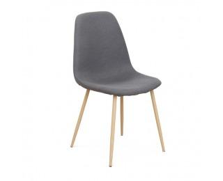 Jedálenská stolička Lega - tmavosivá / buk