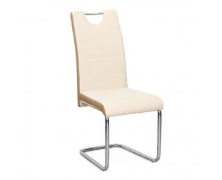 Jedálenská stolička Izma - béžová / chróm